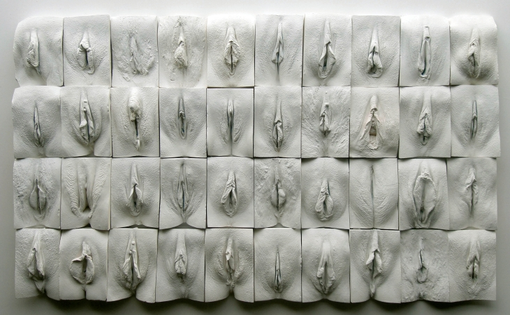 The Great Wall of Vagina, escultura do inglês Jamie McCartney