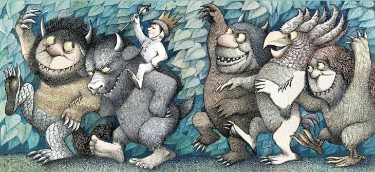 Onde vivem os monstros, arte e texto de Maurice Sendak