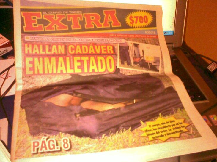 Periodismo colombiano: gostamos de la sangre