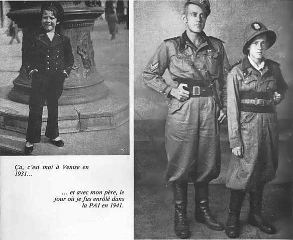 O fascistinha Pratt em Veneza; e com o papai na Etiópia