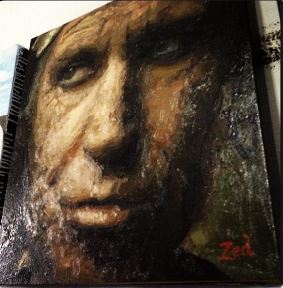Keith, roubado de Annie Leibovitz, roubado de Rembrandt, roubado de Caravaggio