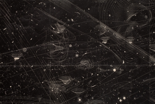 "Marsha Cottrell. Under the Illuminating Hydrogen 2012  (detail), iron oxide on mulberry paper, 62 x 105"" (157 x 266.5 cm)."