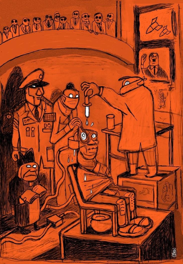 Ilustra de Angeli para a cremosa e crocante edição da Aleph