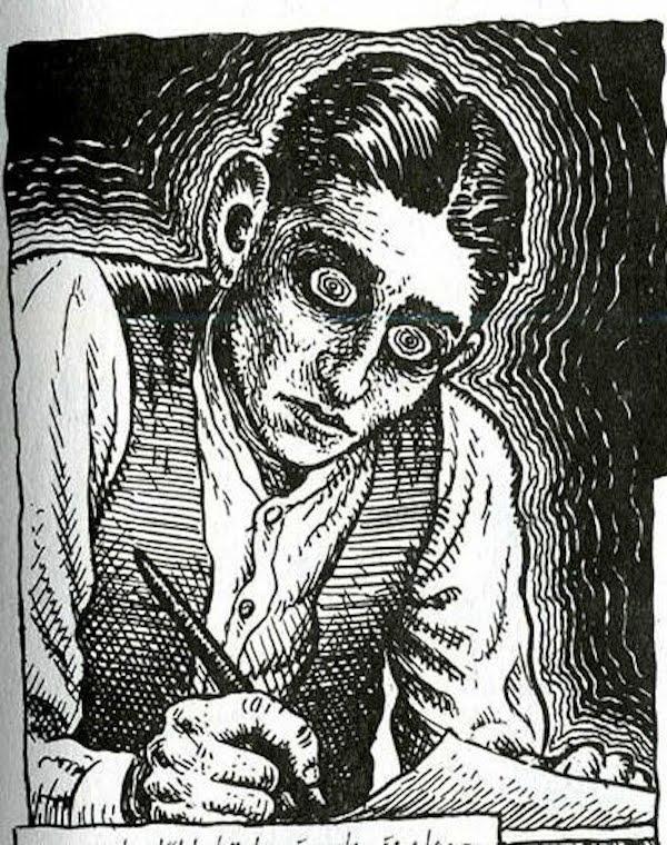 Kafka no traço de Crumb