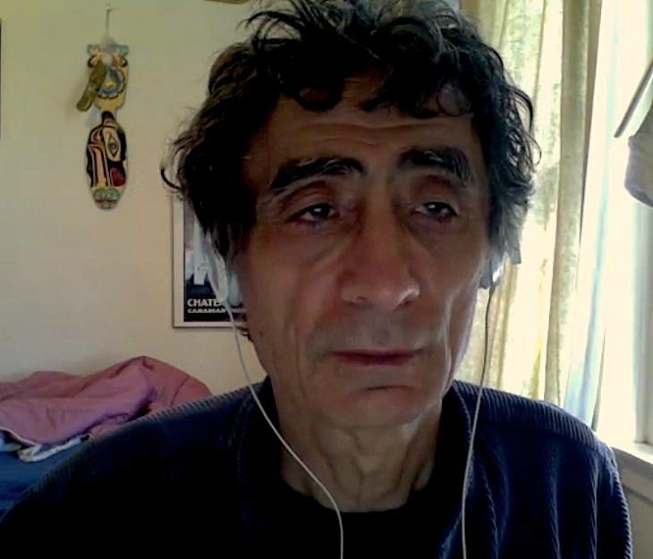 Dr. Gabor Maté, em entrevista via skype