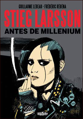 Uma capa simples, apoiada em uma clássica personagem de Larsson